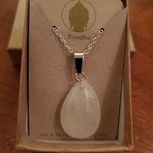 Clear Crystal Quartz Sterling Silver Pendant